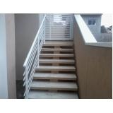 venda de corrimão de inox para escada Jardins
