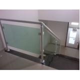venda de guarda corpo de alumínio e vidro preço Água Branca