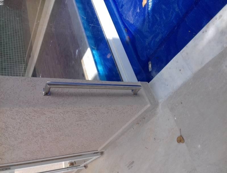 Venda de Corrimão de Inox para Banheiro Preço Residencial Nove - Venda de Corrimão de Inox com Vidro